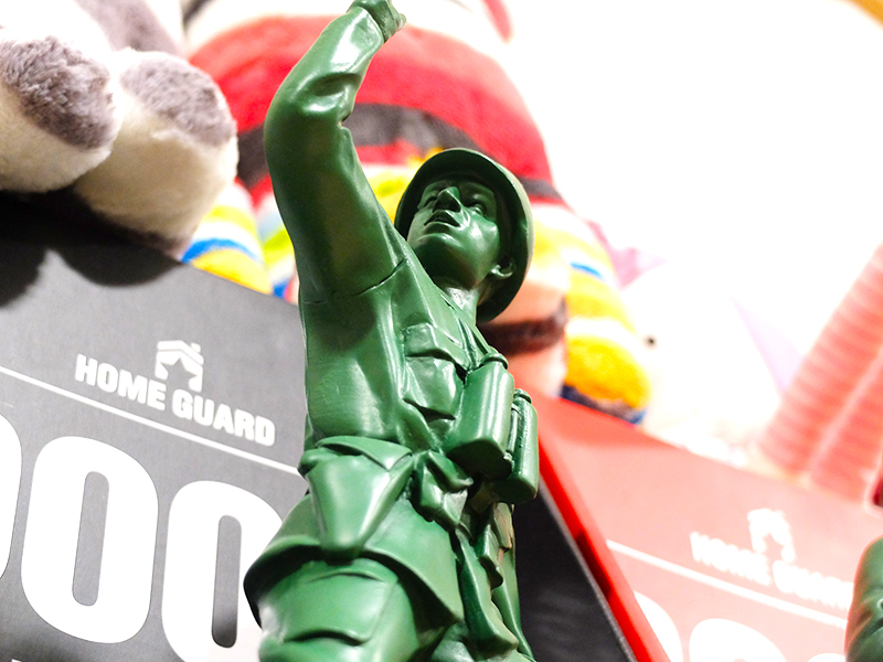 estatua soldado decoración
