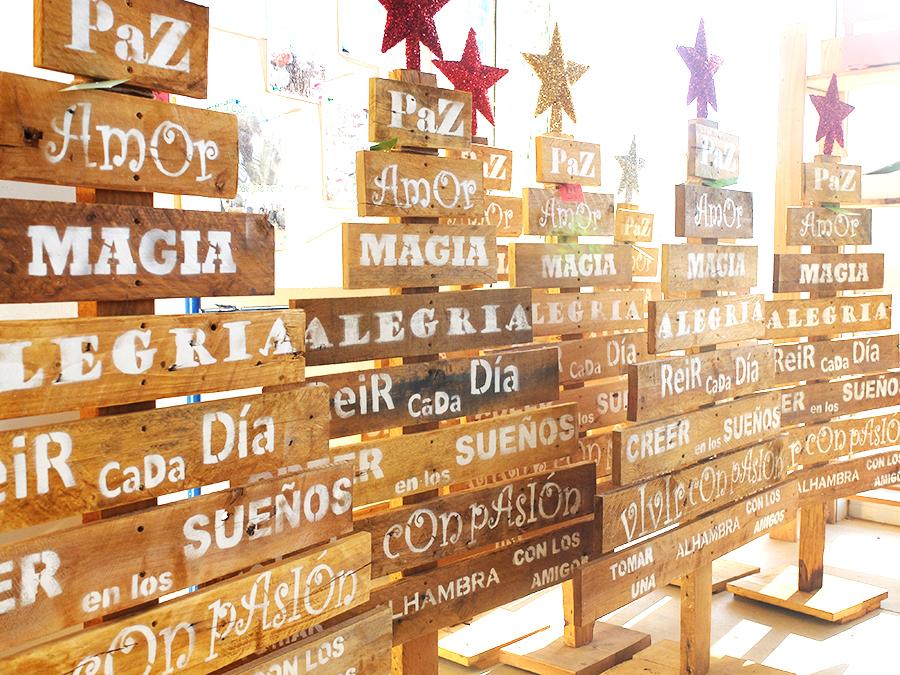 Un rbol de navidad de madera vintage bonito y fabricado con amor - Arboles de navidad de madera ...