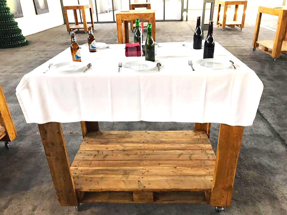 mesa de catas cervezas Alhambra