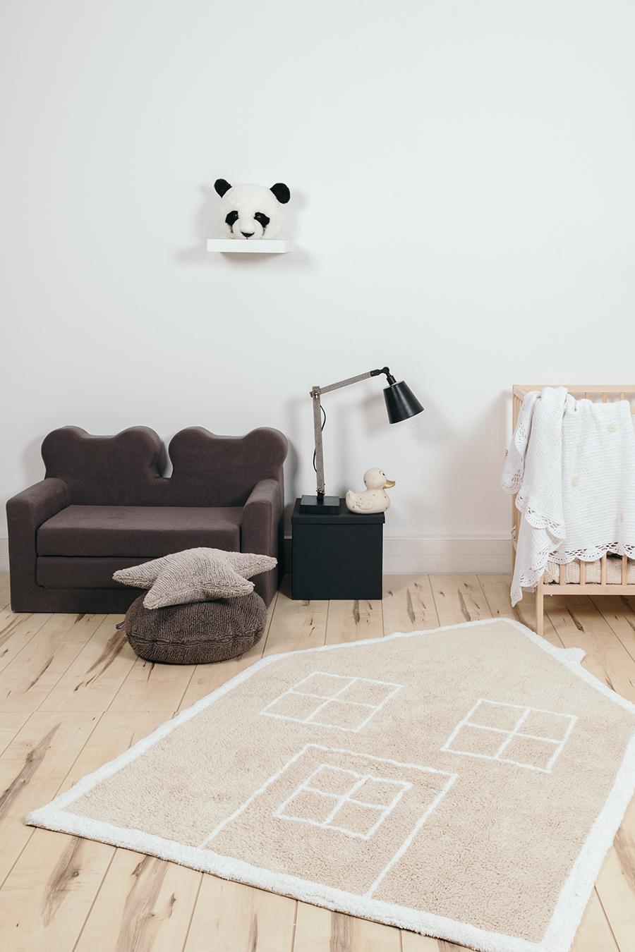 alfombra casita