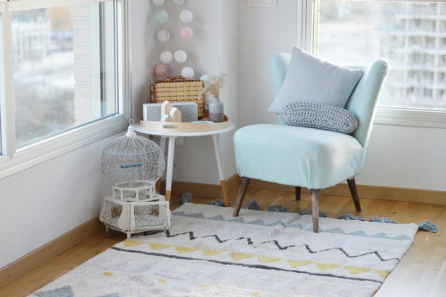 decorar la habitación del bebé con alfombras