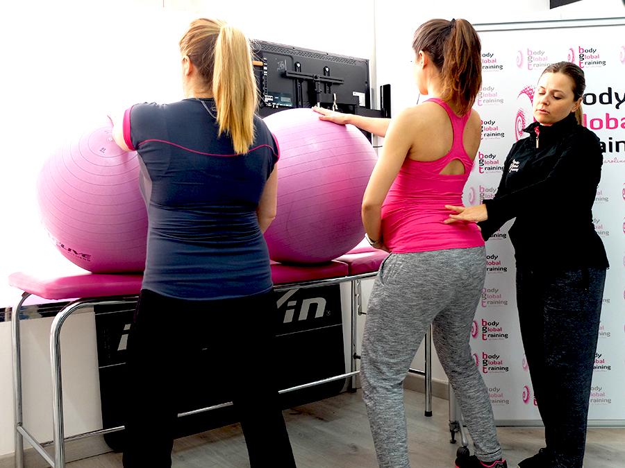 ejercicios para embarazadas con pelotas