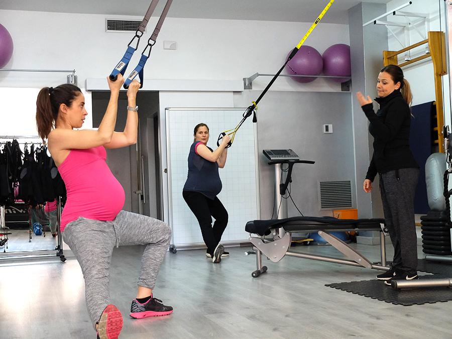 entrenamiento para embarazadas