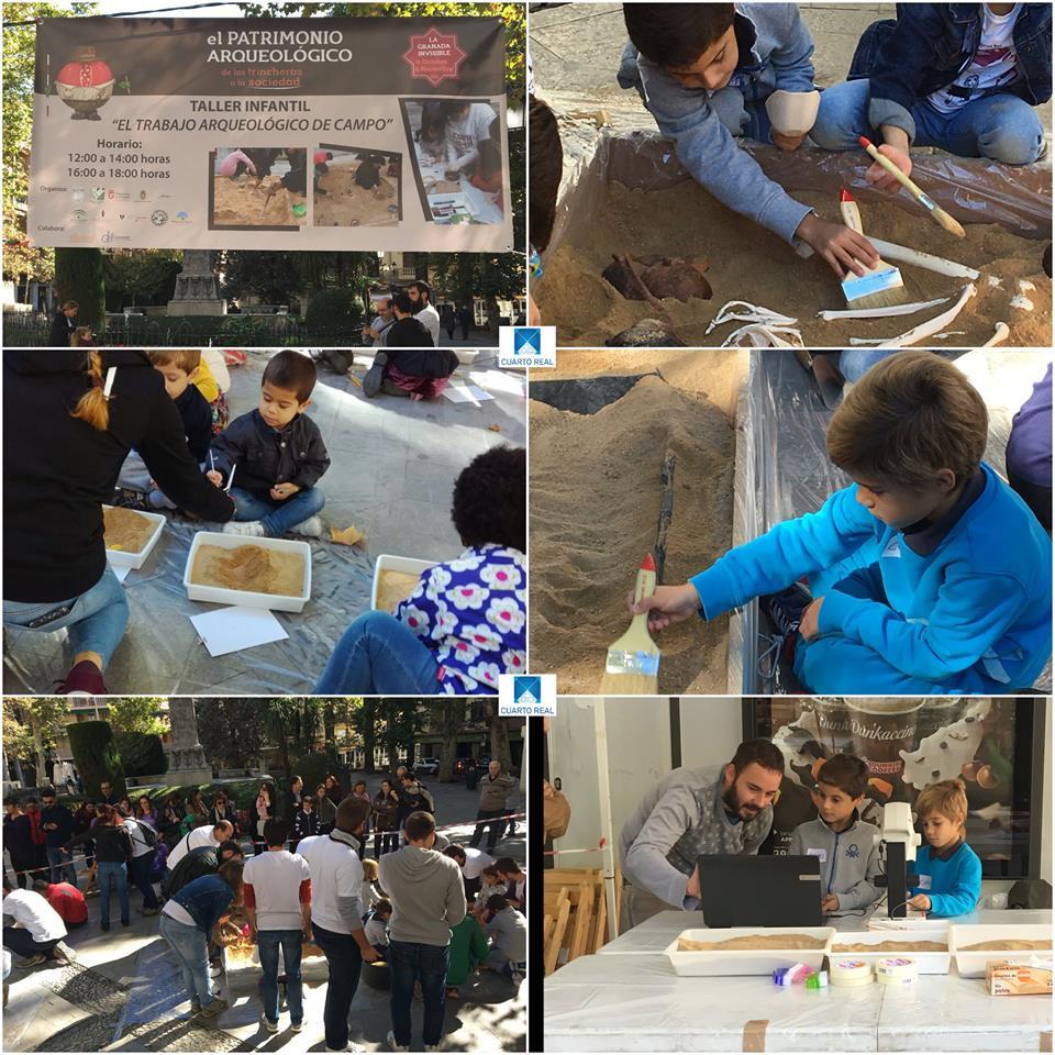 taller infantil de arqueología