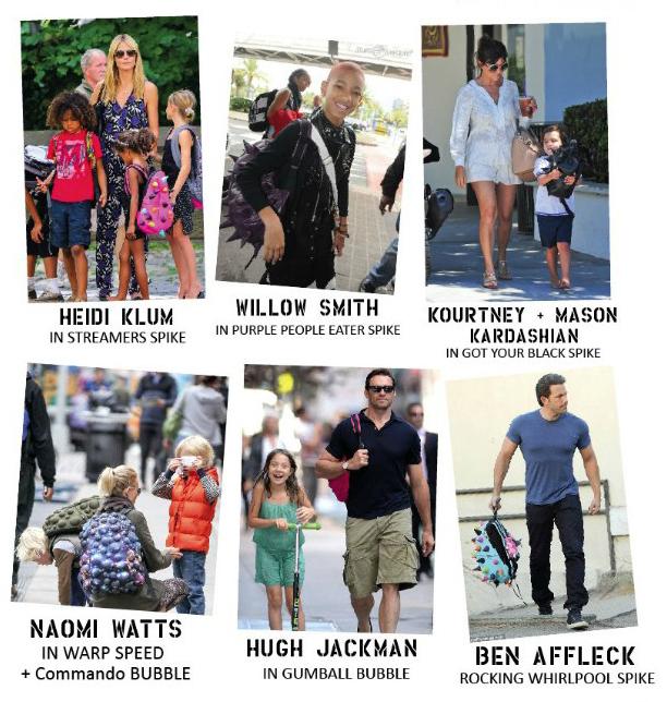 las mochilas de los padres famosos