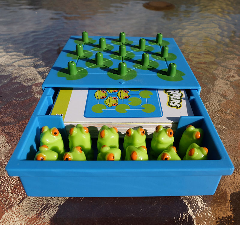 solitario para niños ranas