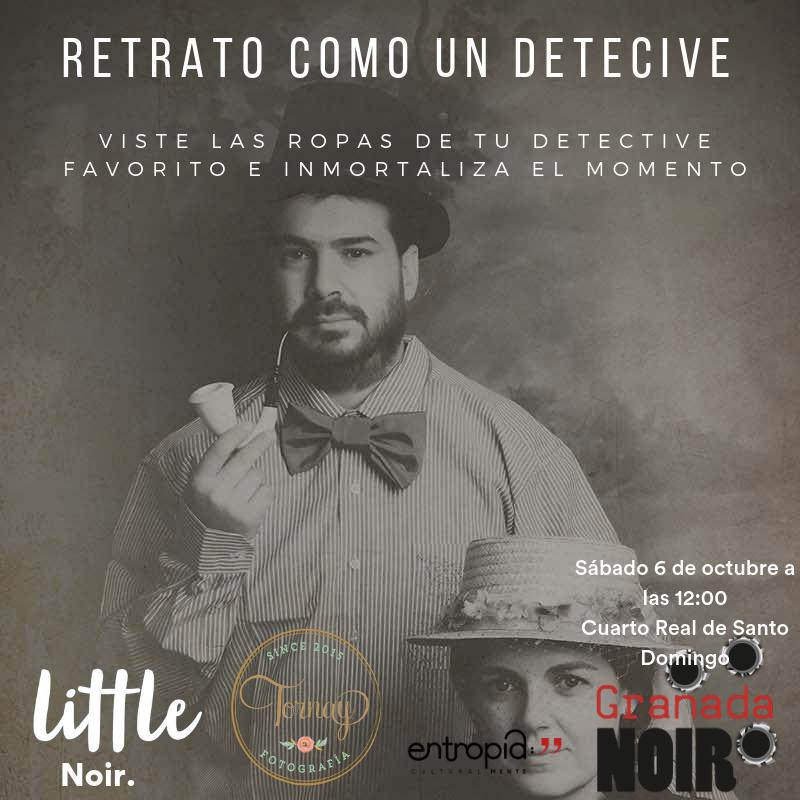 retrato como un detective