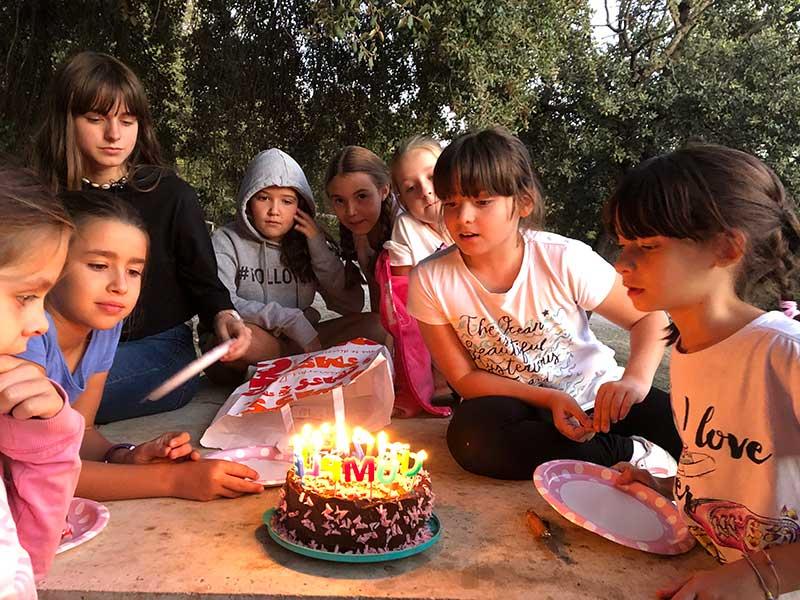 cumpleaños en la naturaleza en Granada