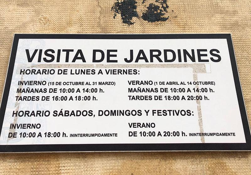 horario visitas Palacio Quinta Alegre