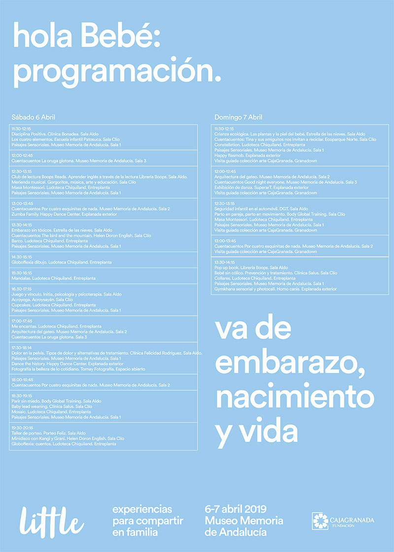 cartel actividades hola Bebé 2019