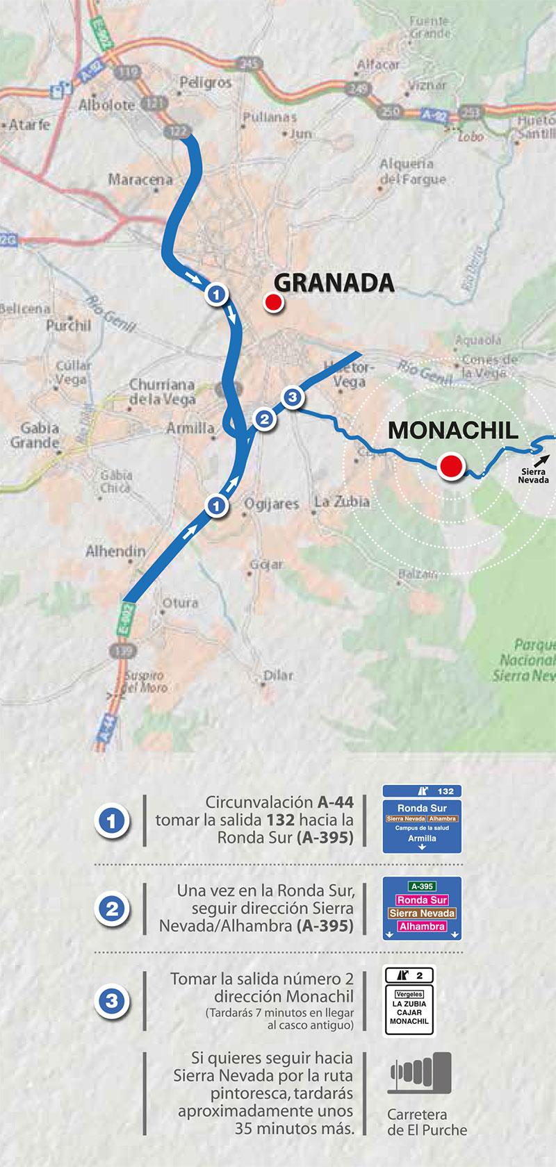 como llegar a Monachil