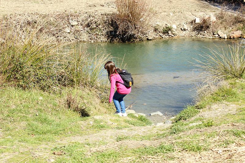 orilla río Genil ruta en familia Pinos Genil