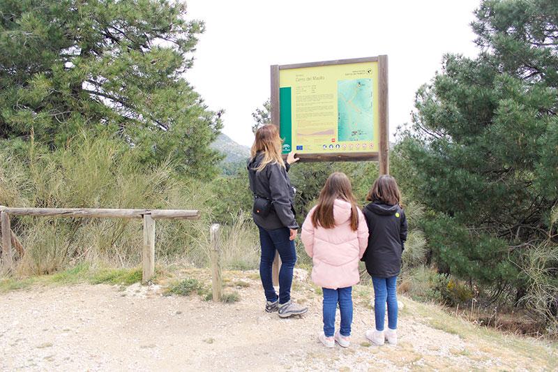 inicio ruta trincheras cerro maullo