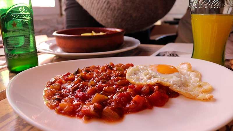 pisto casero gastronomía Güevéjar