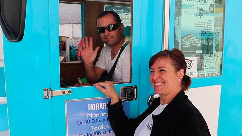 equipo tren turístico Montefrío