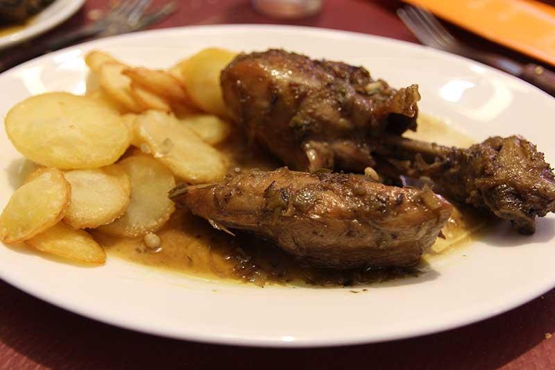menú romano Mesón Atila Salar