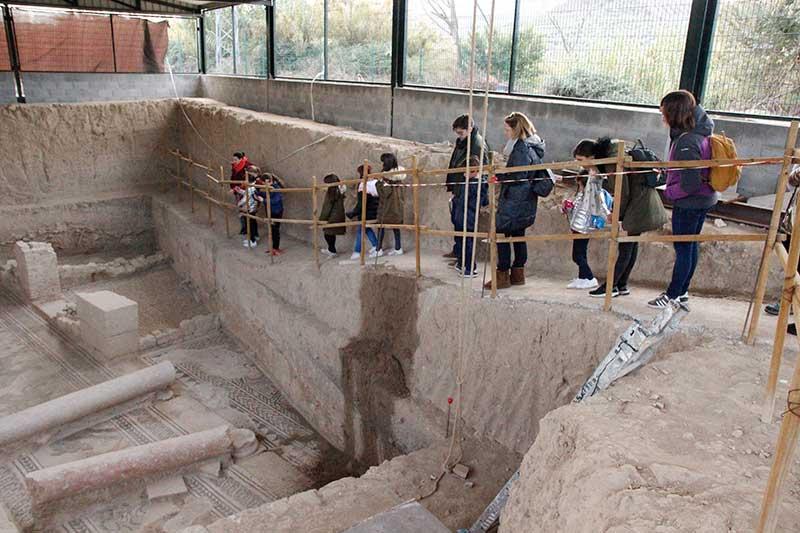 yacimiento arqueológico Salar villa romana
