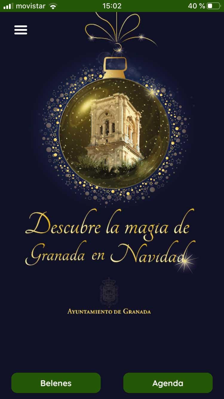 app Navidad en Granada