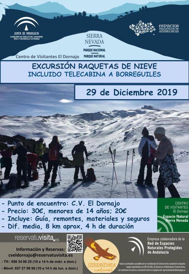 excursión raquetes de nieve en Sierra Nevada