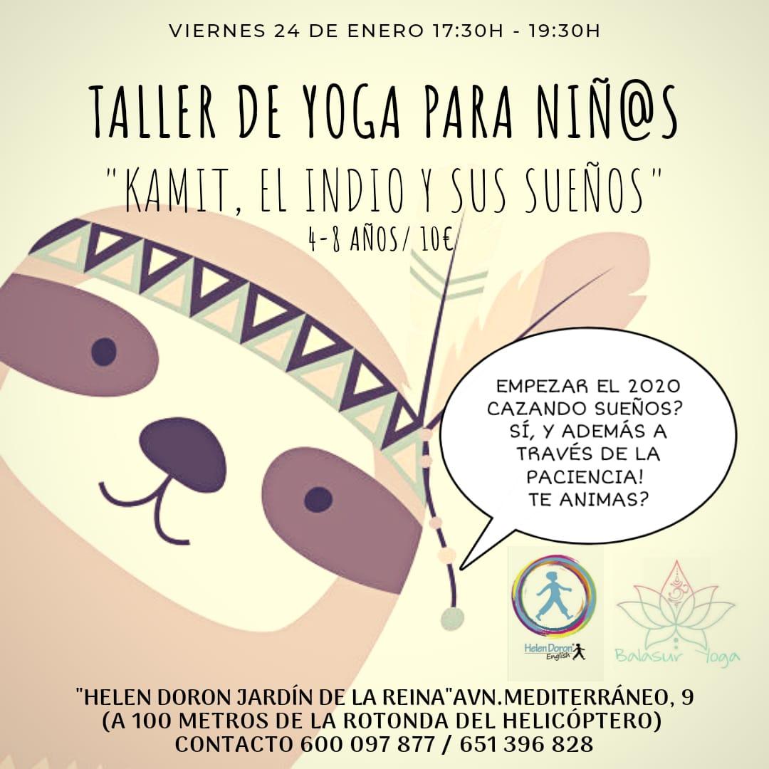 yoga niños ingles en Granada