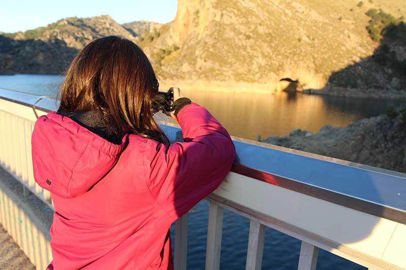 fotografiando el pantano de Quéntar