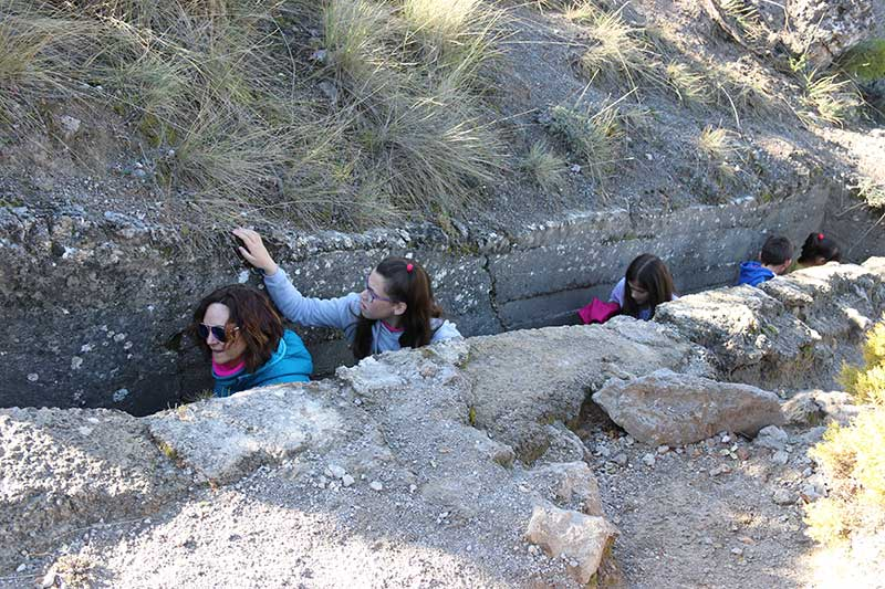 recorriendo las trincheras de Nívar