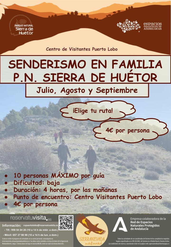 senderismo en familia Sierra de Huetor