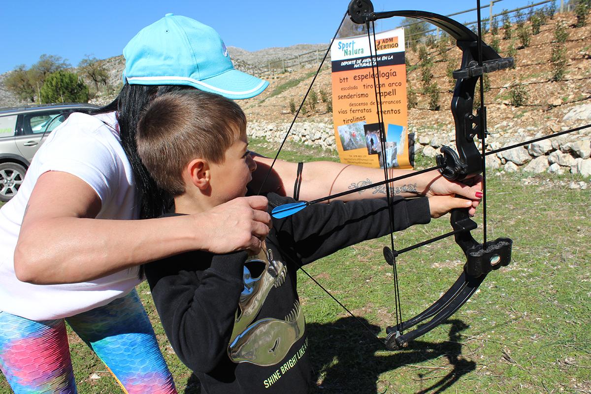 tiro con arco niños Zafarraya