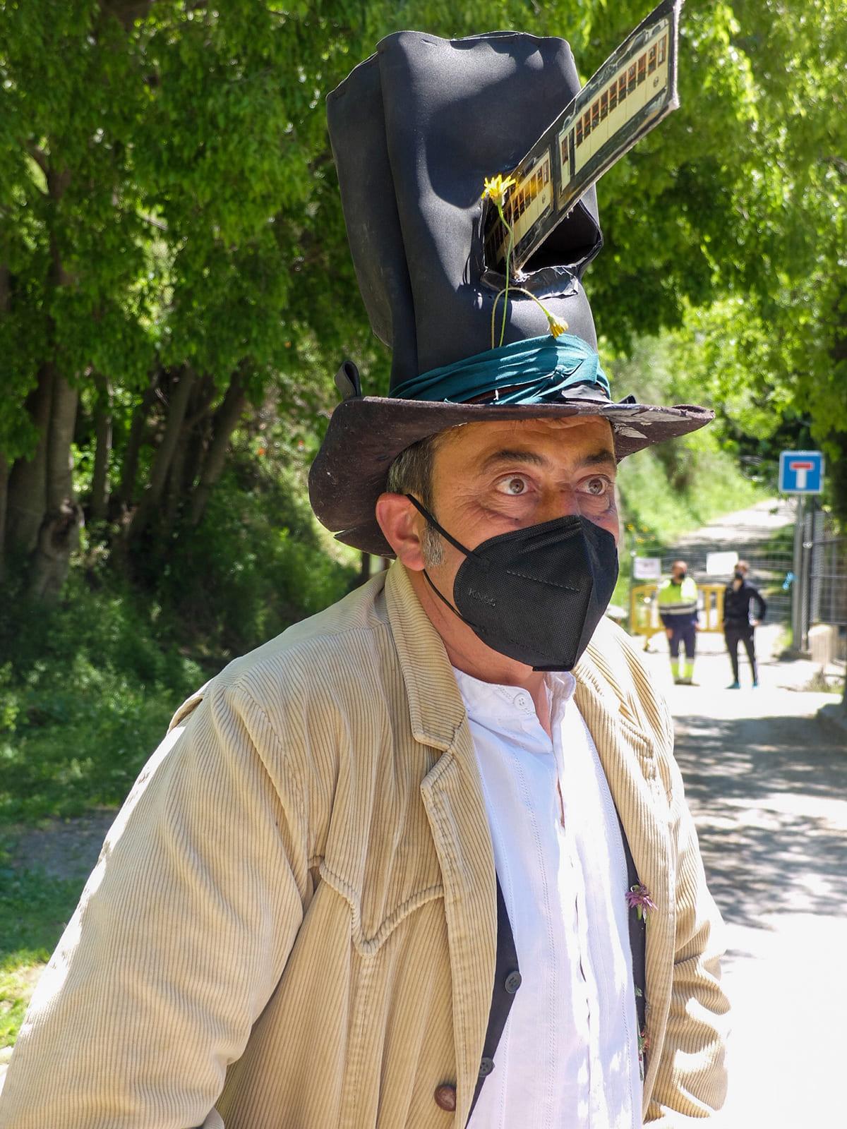 educador ambiental ruta tranvía Güéjar Sierra