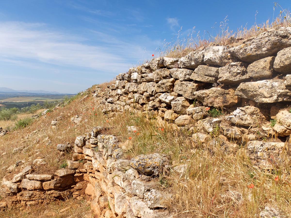 muralla yacimiento Villavieja Fuentes de Cesna